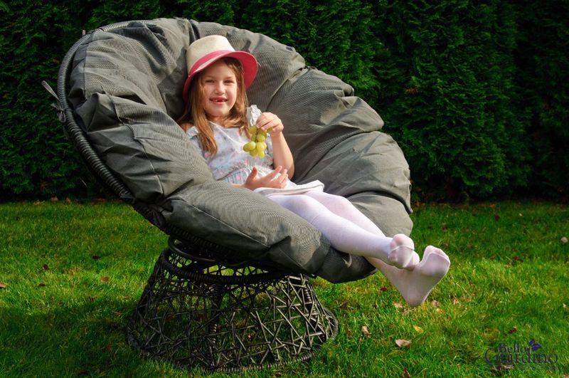 Leżanka obrotowa z technorattanu, fotel stolik rattan zdjęcie 2