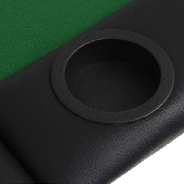 Składany, owalny stół do pokera dla 9 graczy, zielony zdjęcie 7