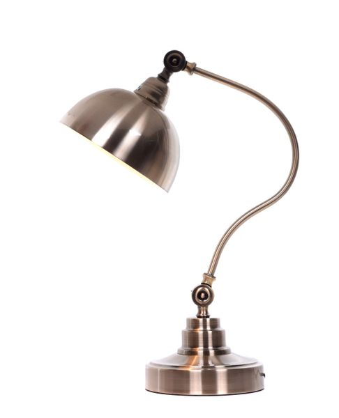 LAMPA STOŁOWA BIURKOWA MOSIĘŻNA PARMIO zdjęcie 1