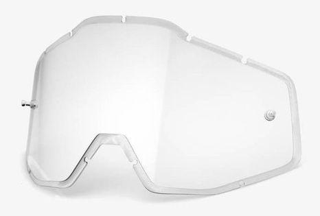 Szyba do gogli 100% RACECRAFT/ACCURI/STRATA (Szyba Przezroczysta HD Double Injected Anti-Fog) (NEW)