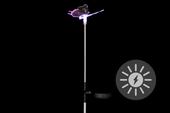Lampa solarna kolorowa LED w kształcie motyla, oświetlenie ogrodowe