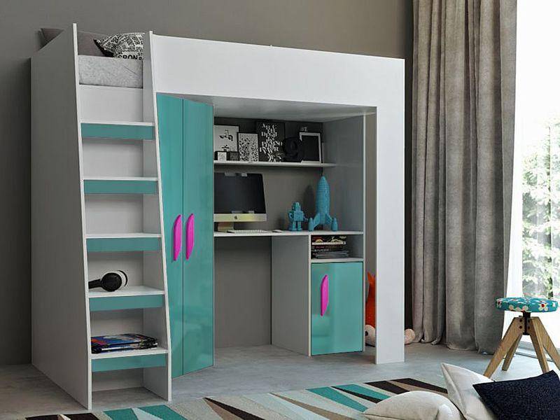 Łóżko piętrowe FIGO antresola szafki zestaw RIBES zdjęcie 8