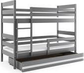 Łóżko piętrowe Eryk 200x90 dla dzieci drewniane meble dziecięce