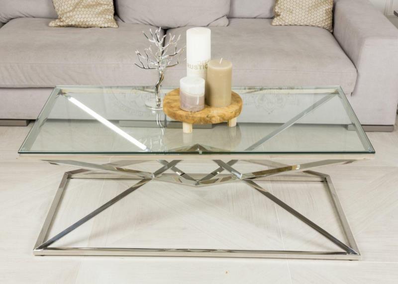 Stolik kawowy ława stół blat szkło hartowane zdjęcie 9