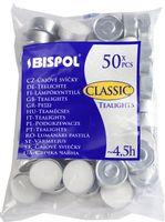Podgrzewacze bezzapachowe tealight BISPOL 4.5H CLASSIC 50szt.