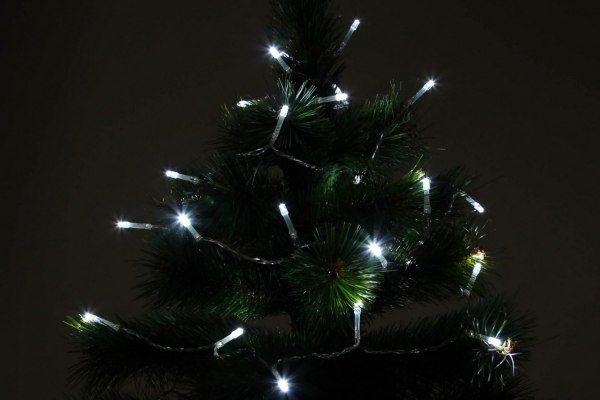 Lampki świąteczne 30 LED na baterie 3m zimny biały Joylight zdjęcie 11
