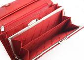 Długi, klasyczny portfel damski Samsonite, skórzany w kolorze czerwonym zdjęcie 6