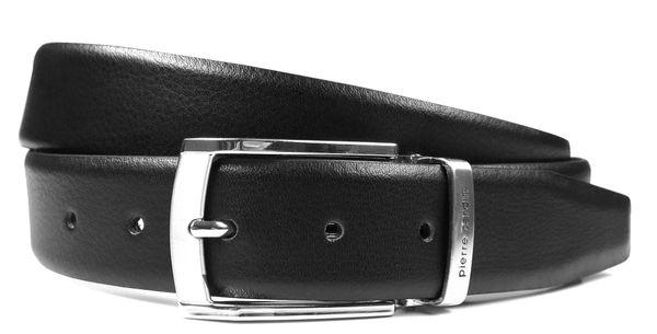 Czarny pasek męski Pierre Cardin PC1 Rozmiar paska - 105 - regulacja 100-110cm