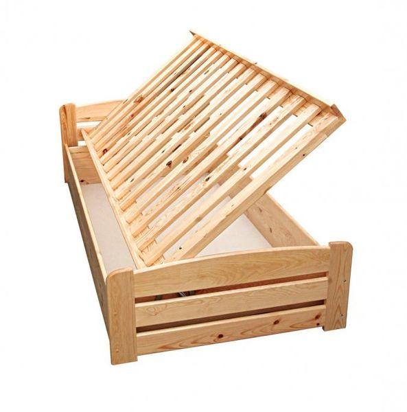 Łóżko Antoś z pojemnikiem na pościel  - łóżko z drewna sosnowego. zdjęcie 2