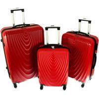 Zestaw 3 walizek PELLUCCI RGL 663 Czerwone