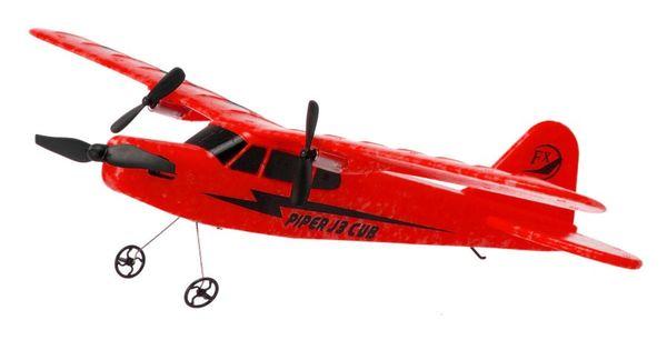 Piper J-3 CUB 2.4GHz RTF (rozpiętość 34cm) - czerwony