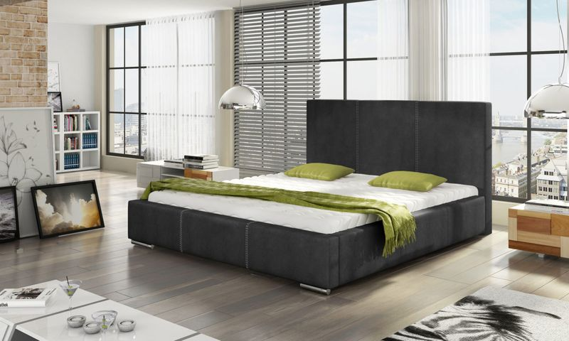 Łóżko Tapicerowane VICKI 160x200+ Stelaż zdjęcie 1