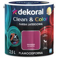 Dekoral Clean & Color 2,5L MALINOWA ALCANTRA