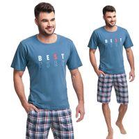 Piżama męska LUNA kod 718 niebieska [XL]