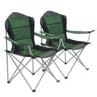 Składane Krzesła Turystyczne, 2 Szt., 96 X 60 X 102 Cm, Zielone