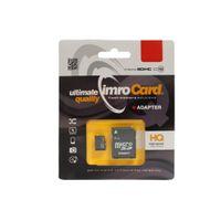 Karta Micro Secure Digital IMRO 32GB CLASS 10 UHS-1 +adapterSD (zapis/odczyt43/85mbs) Promo!