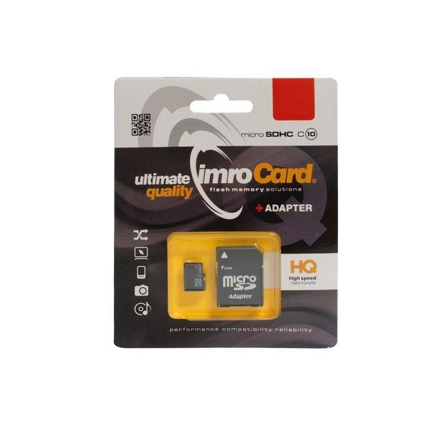 Karta Micro Secure Digital IMRO 32GB CLASS 10 UHS-1 +adapterSD (zapis/odczyt43/85mbs) Promo! na Arena.pl