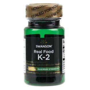 Swanson Witamina K2 MK7 200 mcg - 30 kapsułek
