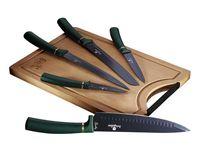 Zestaw 5 Noży Kuchennych Z Deską Berlinger Haus Bh-2551 Emerald
