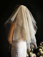 welon ślubny ślub krótki gładki 60 cm ivory PL