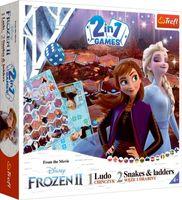 Gra 2w1 Chinczyk Węże i drabiny Frozen 2 Trefl