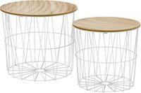 2-częściowy zestaw nowoczesnych, ażurowych stolików