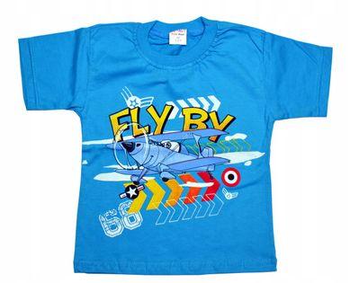 Koszulka Samolot, bawełna roz.92