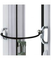 Blokada okienna SREBRNA Zabezpieczenie okna dzieci Uchylenie kluczyk