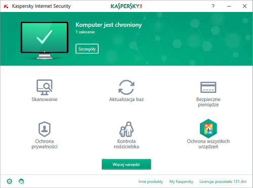 Kaspersky Internet Security 8PC 1 rok na Arena.pl