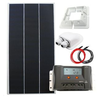 Zestaw solarny 130W 12V MPPT + Uchwyty