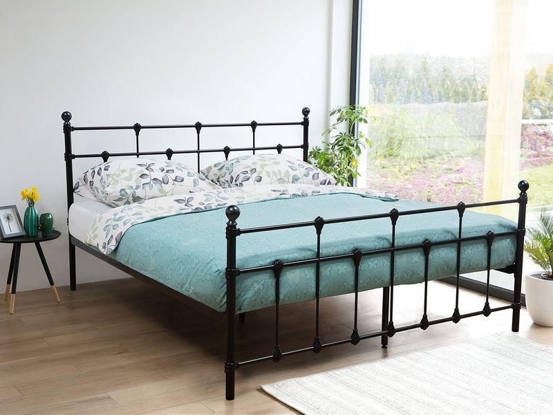 łóżko Rama łóżka Metalowe Ze Stelażem Do Sypialni 180x200cm Ekskluzywne