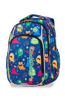 Świecący plecak szkolny CoolPack LED Strike S 19 L Funny Monsters A18206 + ładowarka