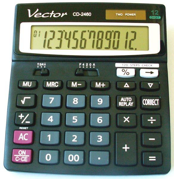 Kalkulator Vector CD-2460 - 120 kroków zdjęcie 2