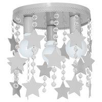 LAMPA SUFITOWA DZIECIĘCA STAR SZARY MLP1130 Milagro