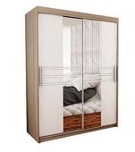 szafa przesuwna TASOMI A 150cm garderoba, szafa z lustrem