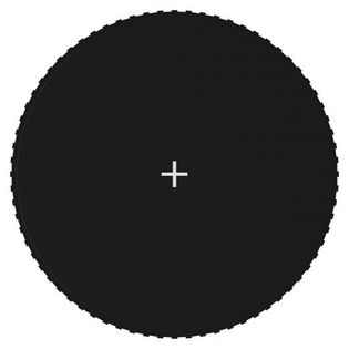 Mata do skakania do trampoliny 3,96 m, czarna, okrągła