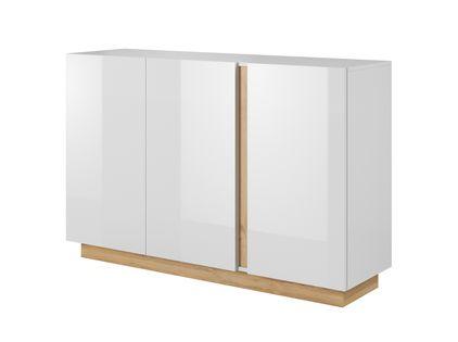 Komoda szafka 138 cm biały połysk meble do salonu połysk