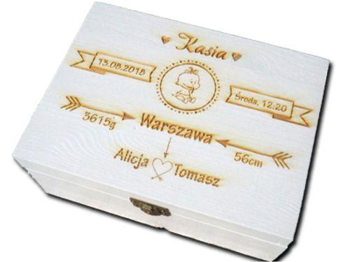 PUDEŁKO WSPOMNIEŃ prezent CHRZEST roczek GRAWER na Arena.pl