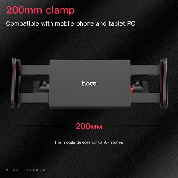 Uchwyt na zagłówek do tabletu regulowany hoco zdjęcie 4