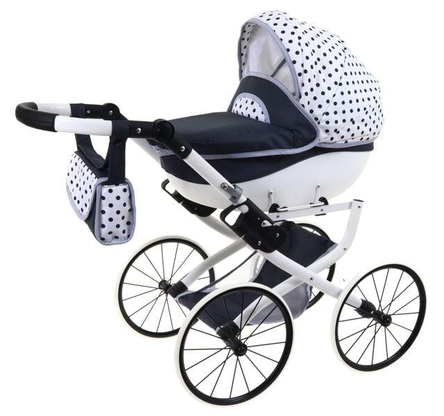 DUŻY Solidny POLSKI Wózek dla lalek lalkowy RETRO Metalowe koła zdjęcie 1