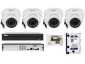 Zestaw do monitoringu na 4 kamery wandaloodporne FULL HD 2 MPIX IR 30M