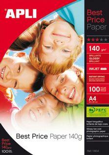 Papier Fotograficzny Apli Best Price Photo Paper, A4, 140Gsm, Błyszczący, 100Ark.