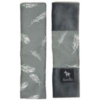 Ochraniacze Na Pasy Dark Grey Feathers - Velvet Lanila wyprawka dla dziecka