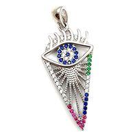Wisiorek srebrny rodowany oko proroka