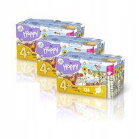 3x Pieluszki Happy Flexi Fit Maxi Plus BOX 124szt.
