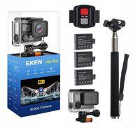 Kamera EKEN H5s Plus WiFi 4K 3 x Aku.+Selfstick