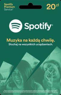 Doładowanie Spotify 20zl Karta Premium 30 dni