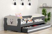 Łóżko pojedyncze FILIP 160x80 dla dzieci + SZUFLADA + BARIERKA zdjęcie 8