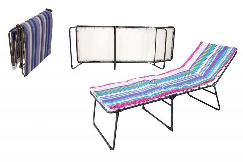 łóżko Polowe Składane Z Materacem I Zagłówkiem Ibiza Lux