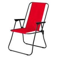Leżak krzesło kempingowe SANDY 52x86x44 czerwone stalowe swe